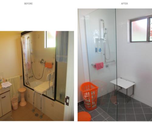 bathroom mods before after