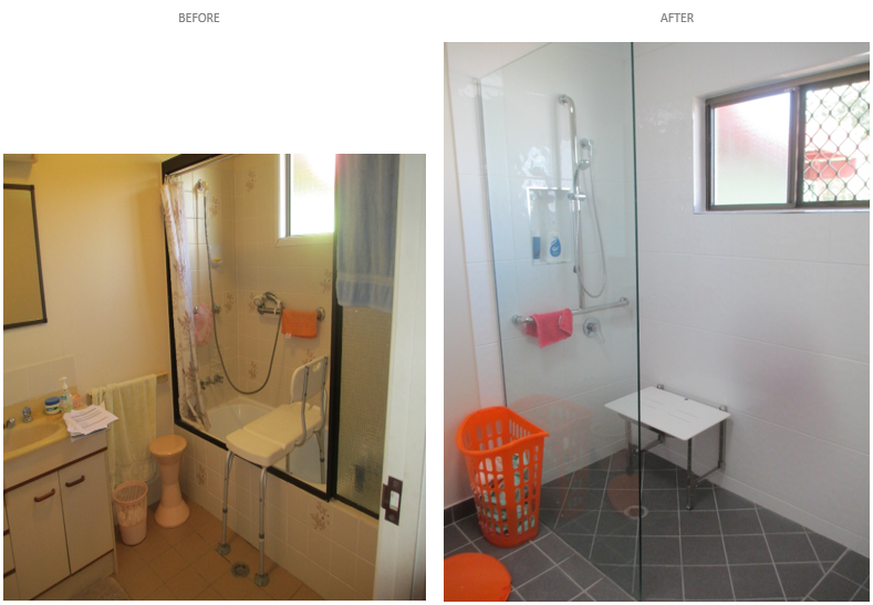 bathroom mods before after