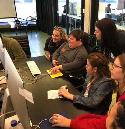 kids with disability participating in the cybersparks pilot project