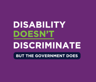 Disability Doesn't Discriminate Campaign Poster